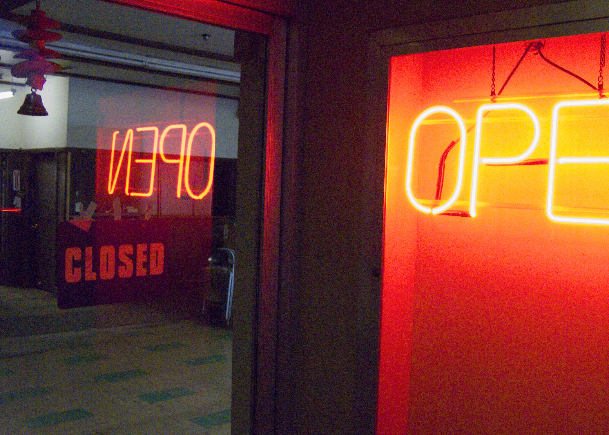 open-light-night-sign